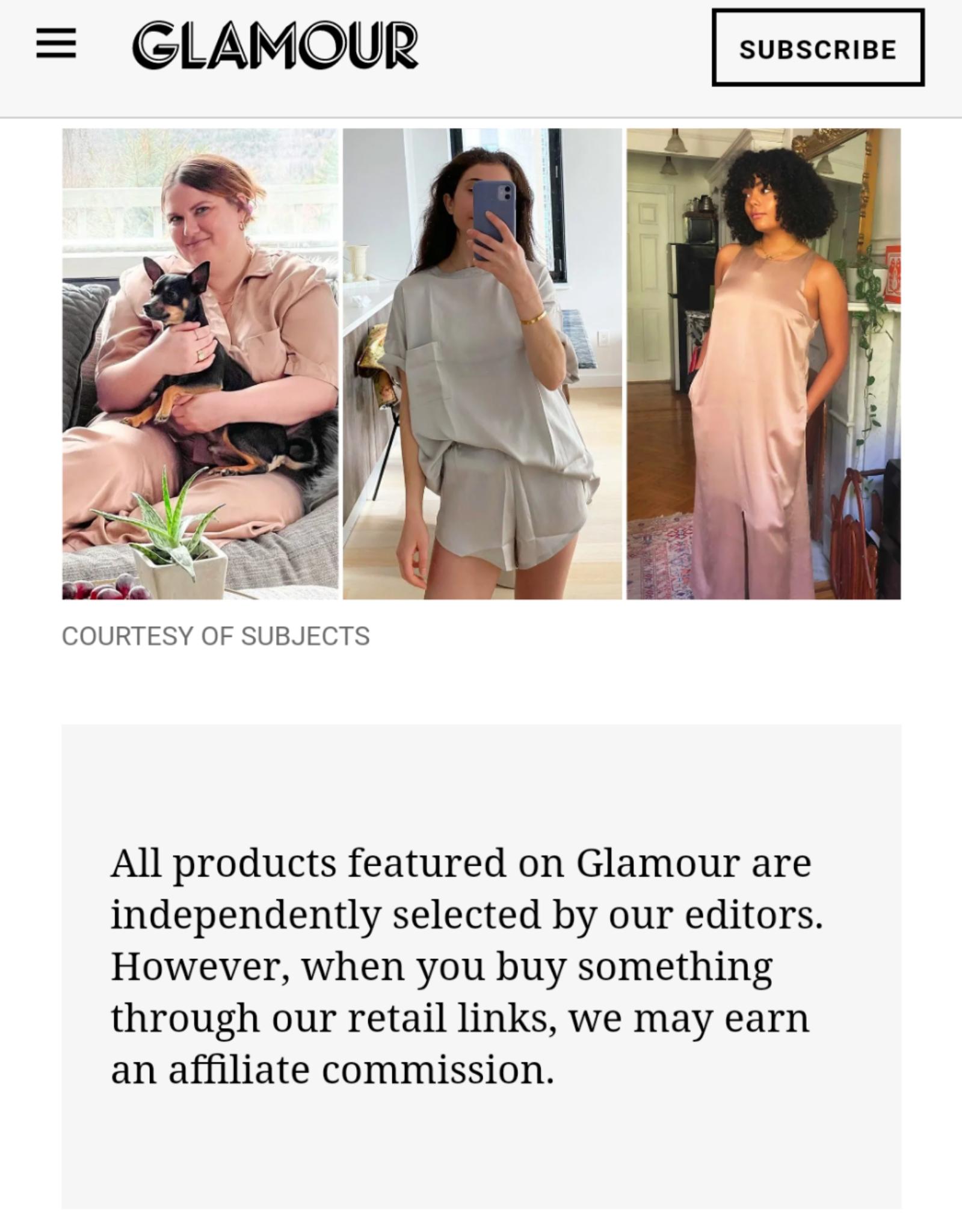 Divulgación de marketing de afiliados de Glamour