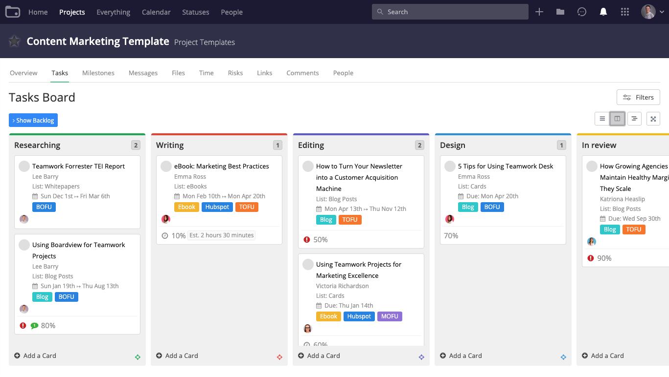 teamwork app for task organization