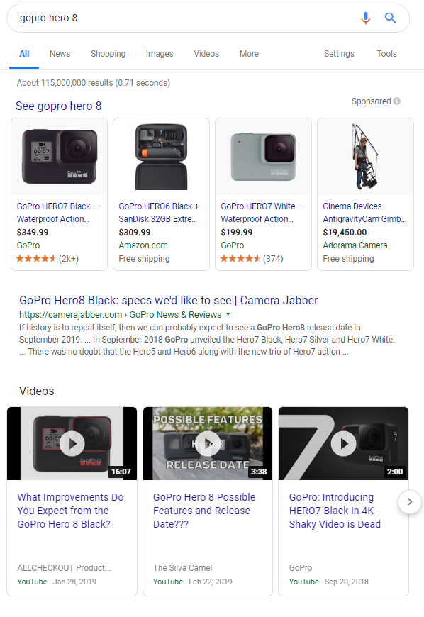 YouTube results often pop up first during Google searches, signaling the power of YouTube SEO