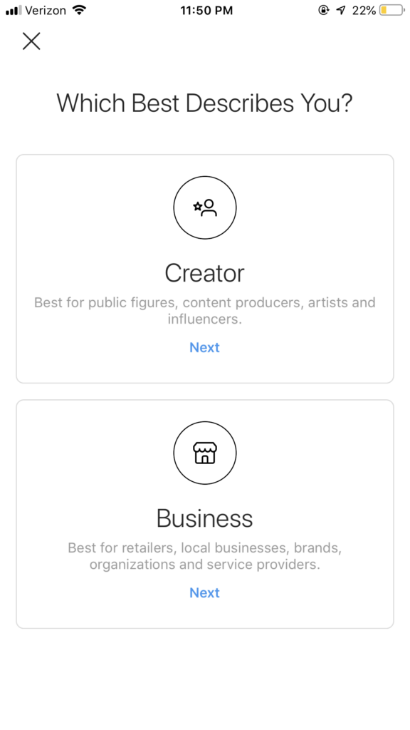 instagram business profile - creator vs business account