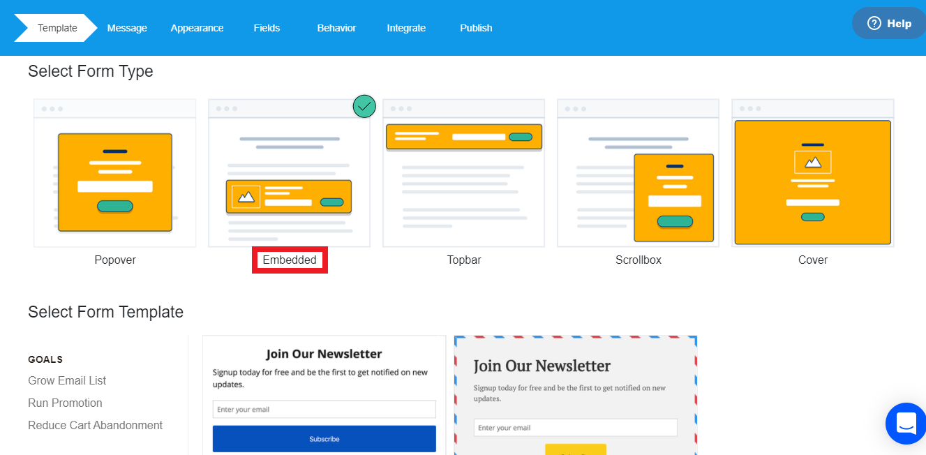 MailMunch is a hybrid email marketing and landing page tool offering engaging form types and emails to send to leads.