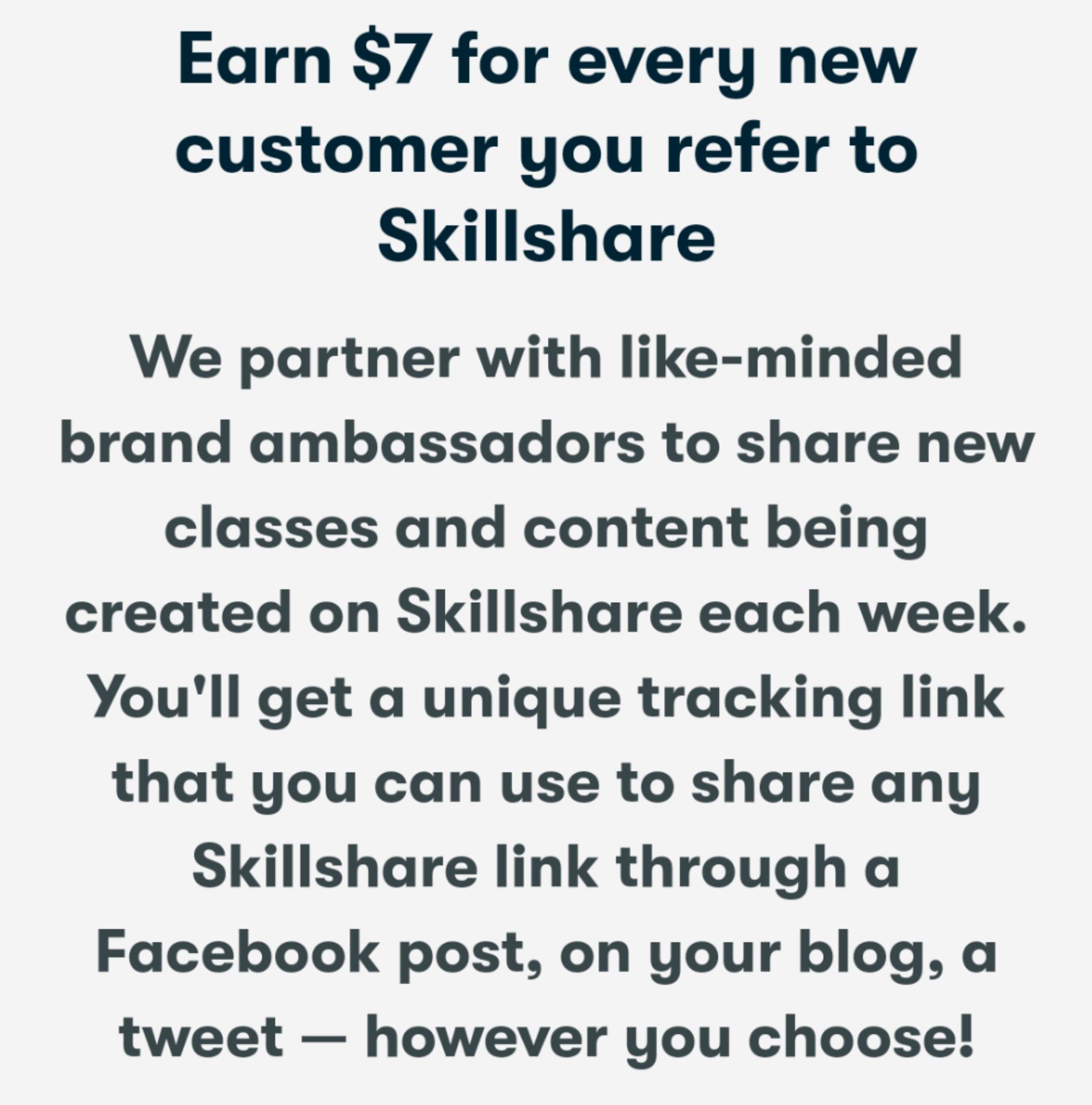 Beneficios del programa de marketing de afiliados de Skillshare