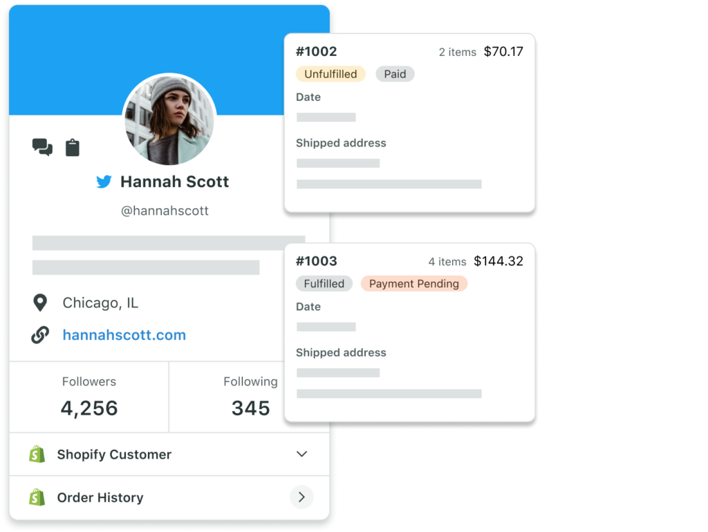 Viewing Shopify customer details