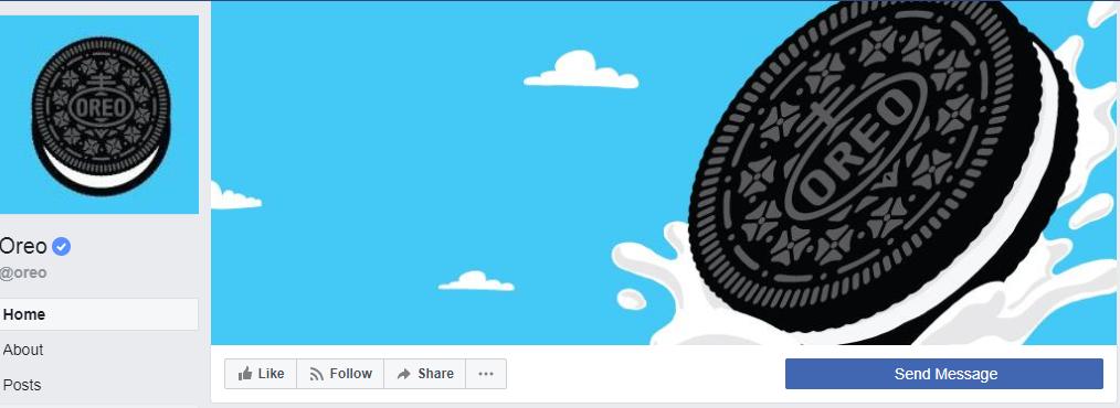 oreo facebook cover photo example