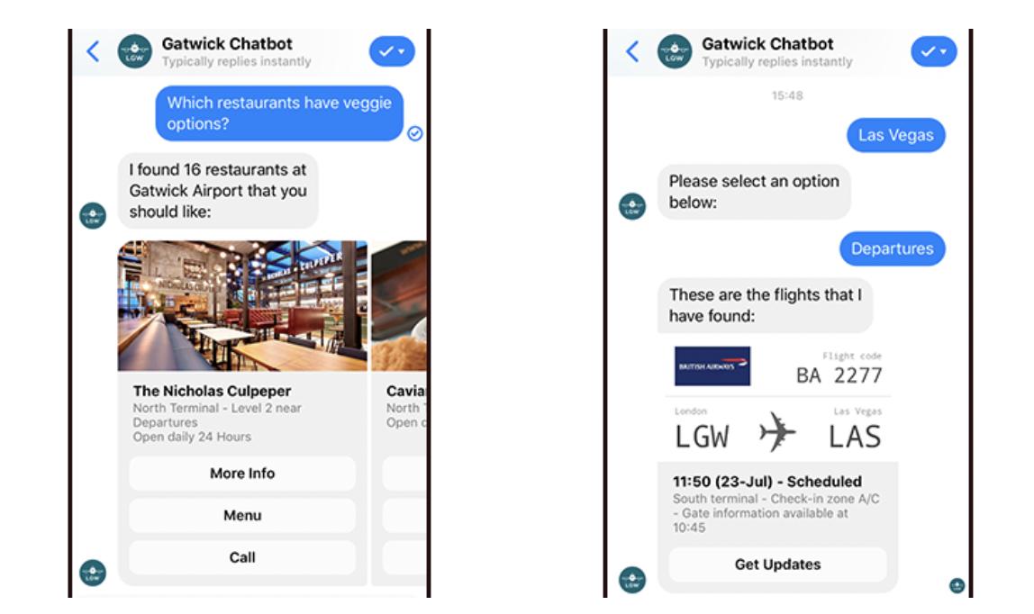 Gatwick chatbot provides consumer information