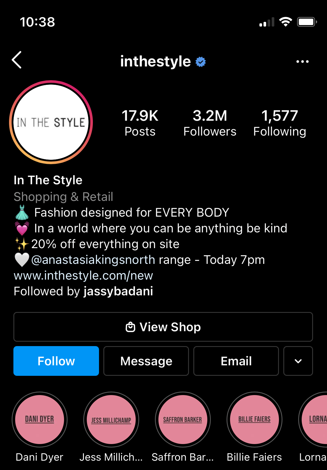 In The Style's Instagram profile