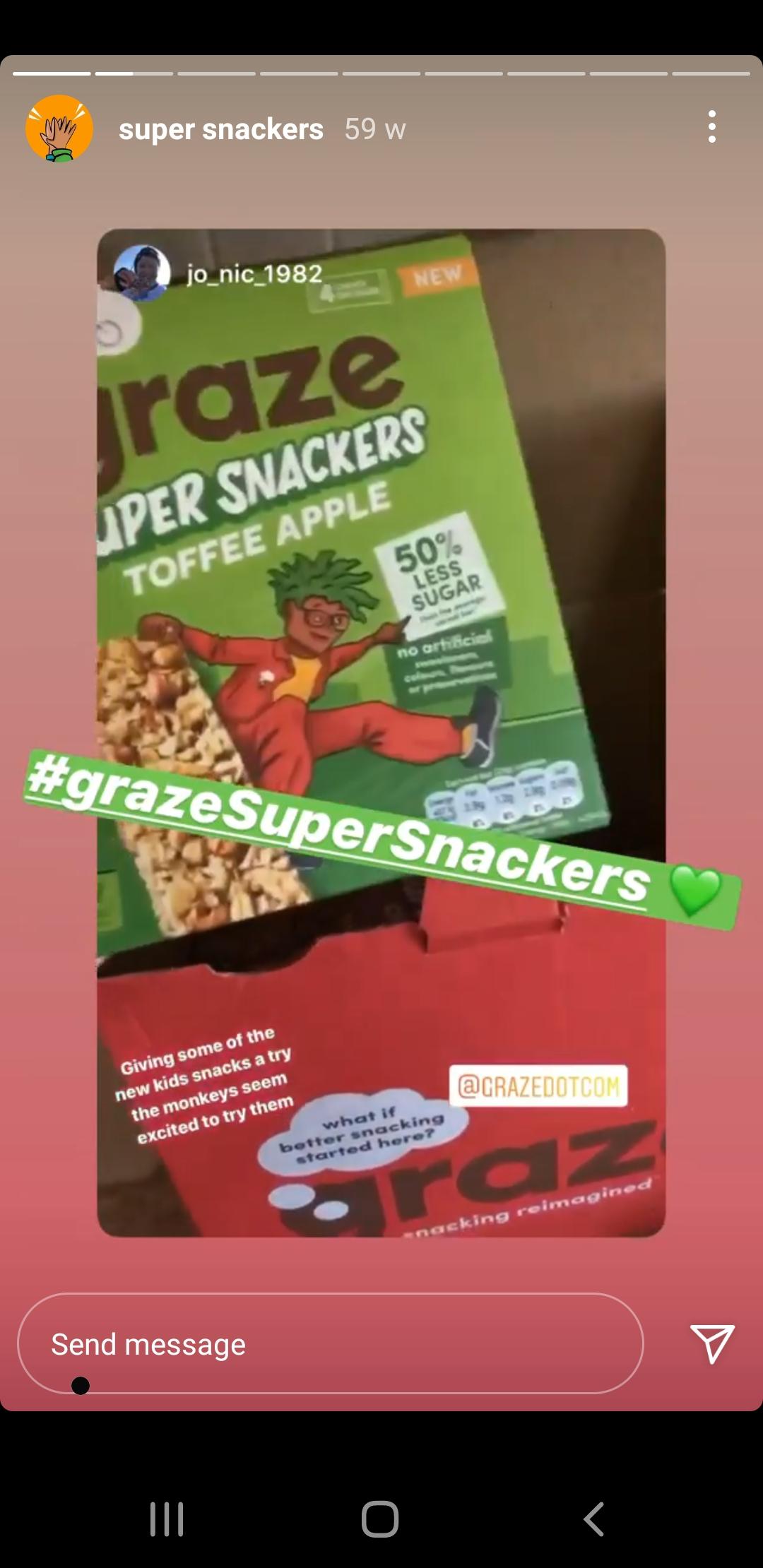 Graze's enticing Instagram Story