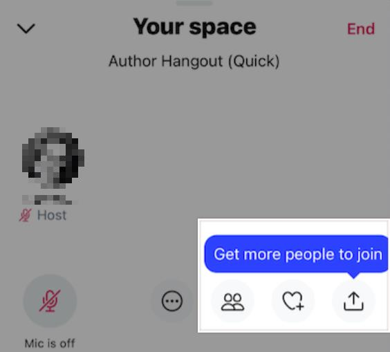 Twitter Spaces button to invite speakers