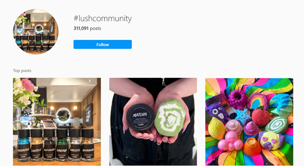Lush's user generated content