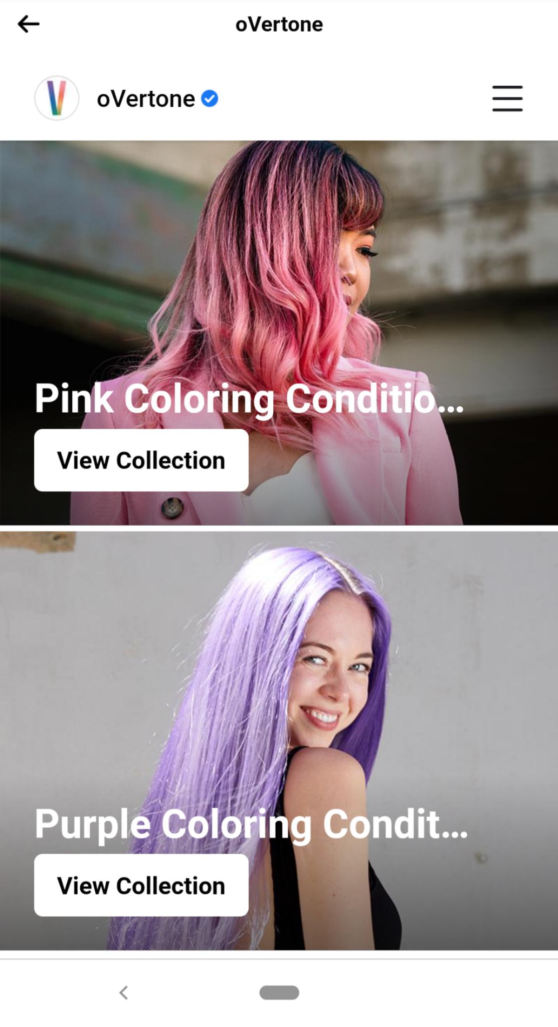 Facebook shopping collection