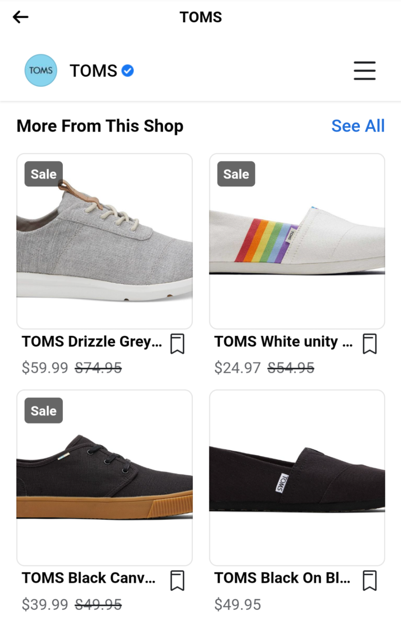 mobile product view facebook shops