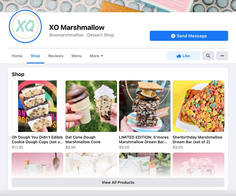 XO Marshmallow, a Chicago Bakery's, Facebook Shop