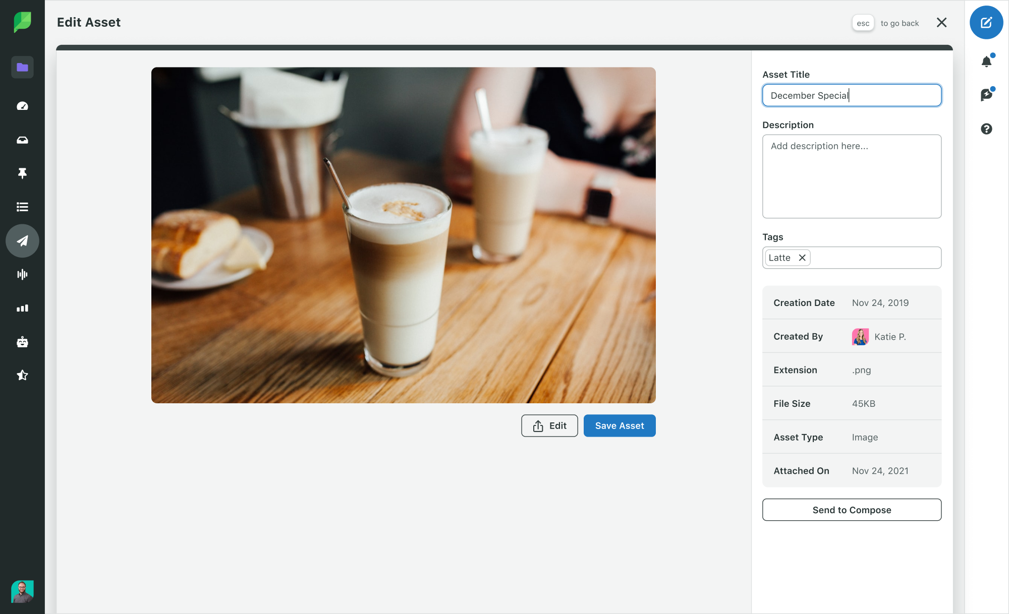 Screenshot of Sprout Social's Asset Library