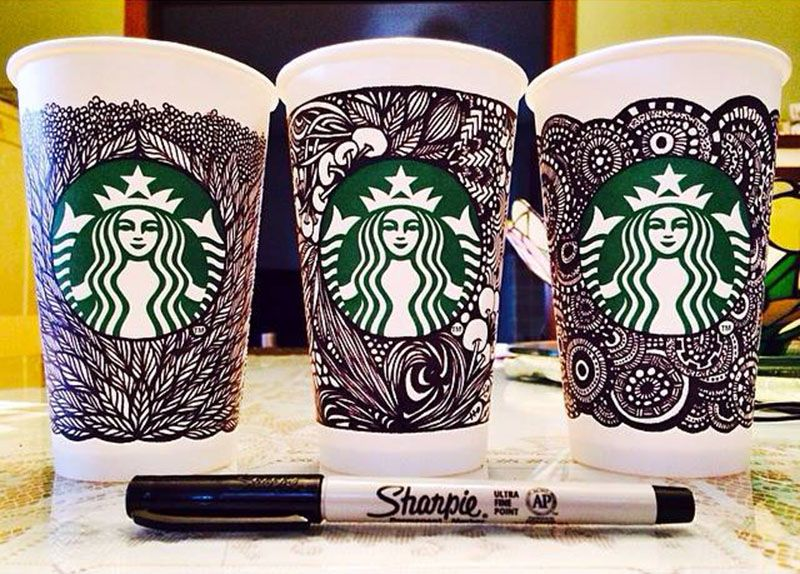 example of crowdsourced designs from starbucks