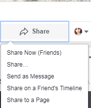 facebook share options