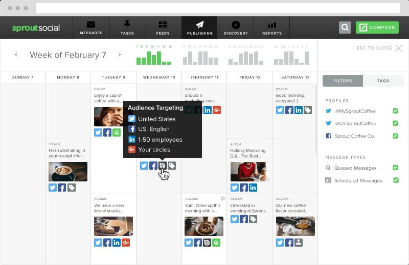 social media publishing calendar