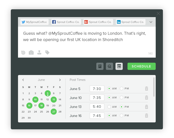 social media scheduling sprout social