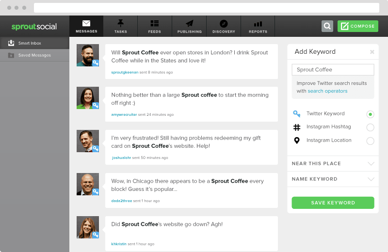 Sprout Social Keyword Monitoring