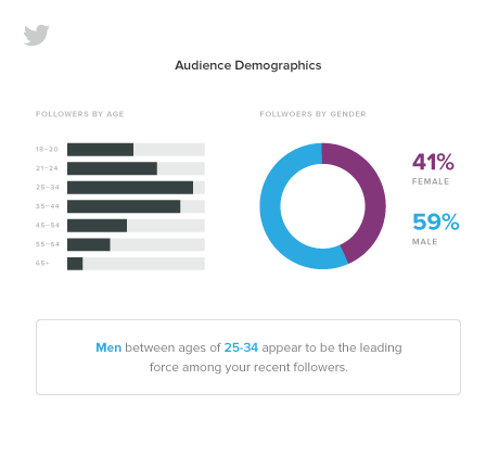 sprout social twitter audience demographics report  7 Tips to Launch Successful Twitter Promotions twitter analytics demographics2