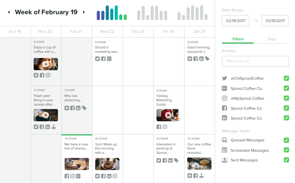 Pick the Perfect Social Media Scheduler For Your Business — Sprout Social